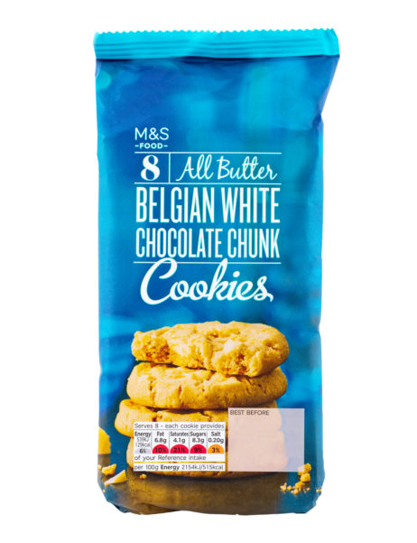 8 All butter Belgian White Chocolate Cookies  200 gr