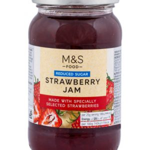 Reduced sugar strawberry jam  415 gr