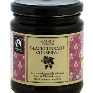 Blackcurrant conserve  340 gr