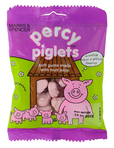 Percy Piglets Soft Gums Made With Fruit Juice 170 gr
