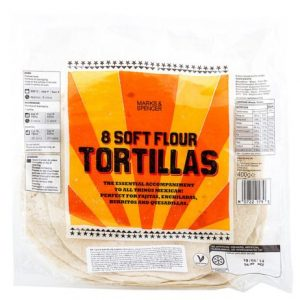 8 soft flour tortillas  464 gr