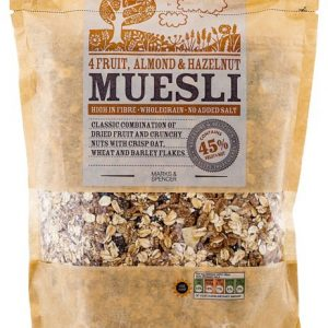 4 Fruit, Almond & Hazelnut Muesli 750 gr
