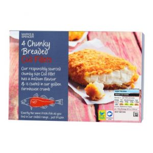 4 Chunky Breaded Cod Fillets  600 gr
