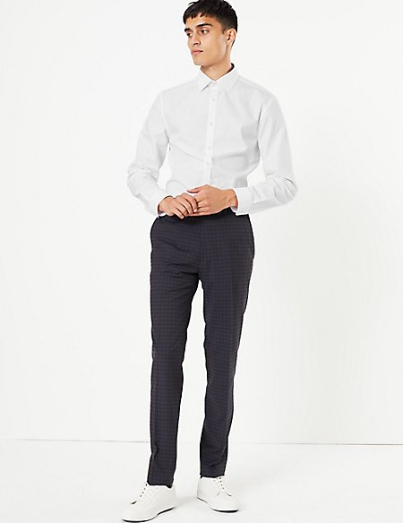 2 Pack Skinny Fit Shirt with Stretch