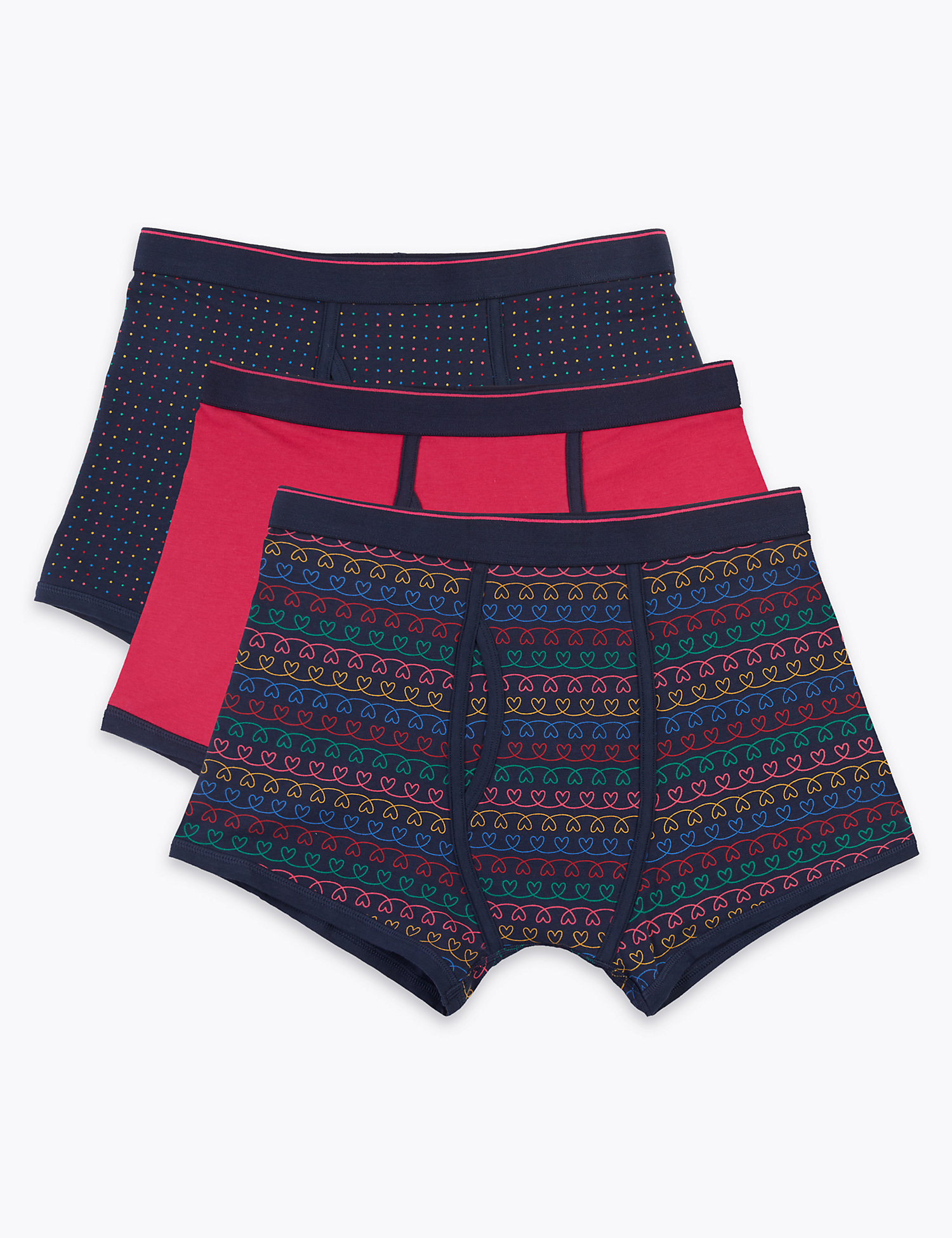 3 Pack Cotton Rich Cool & Fresh Trunks