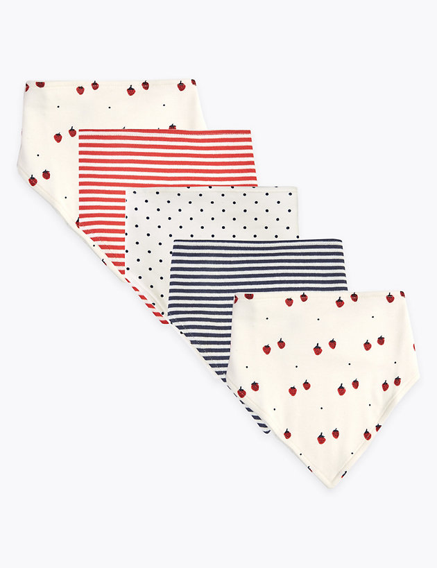 5P Nautical Fruit AOP Bibs