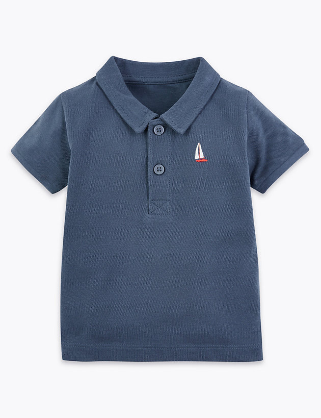 Cotton Polo Shirt (0-3 Years)