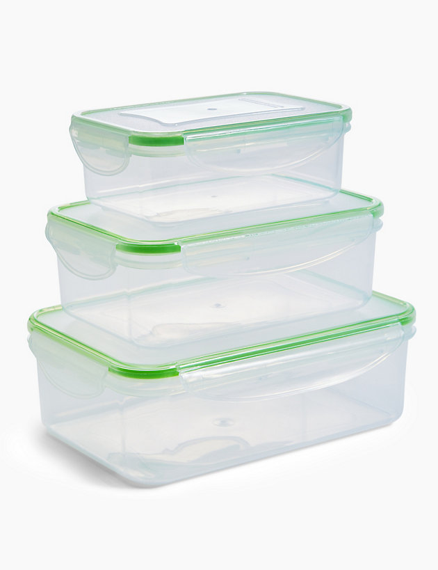 Set of 3 Clip Storage Containers
