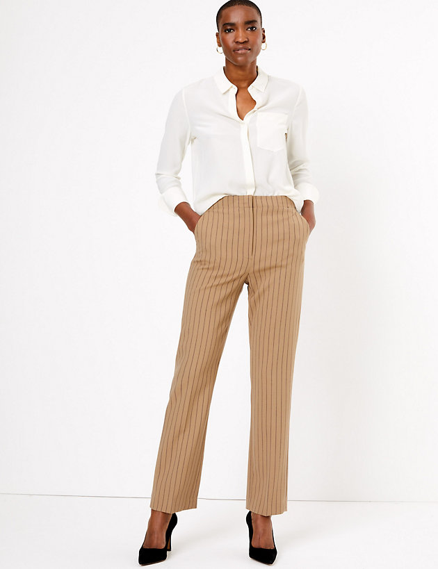 Autograph Pinstripe Straight Trousers
