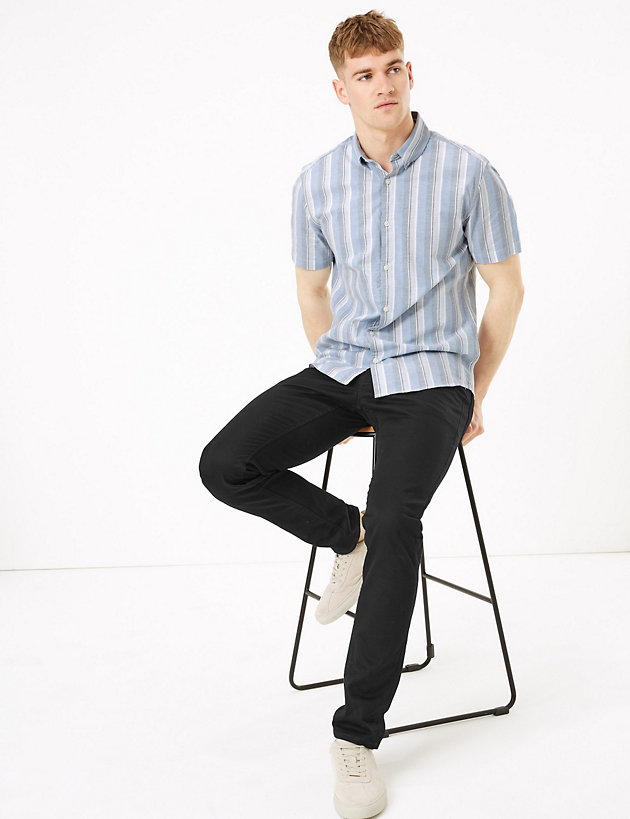 Cotton Regular Fit Striped Shirt