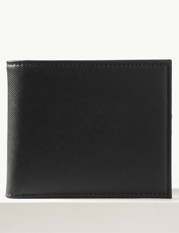 Faux Leather Bi-fold Cardsafe Wallet