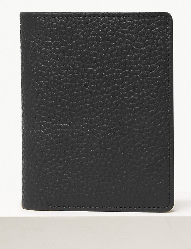 Leather Bi-fold Cardsafe Wallet