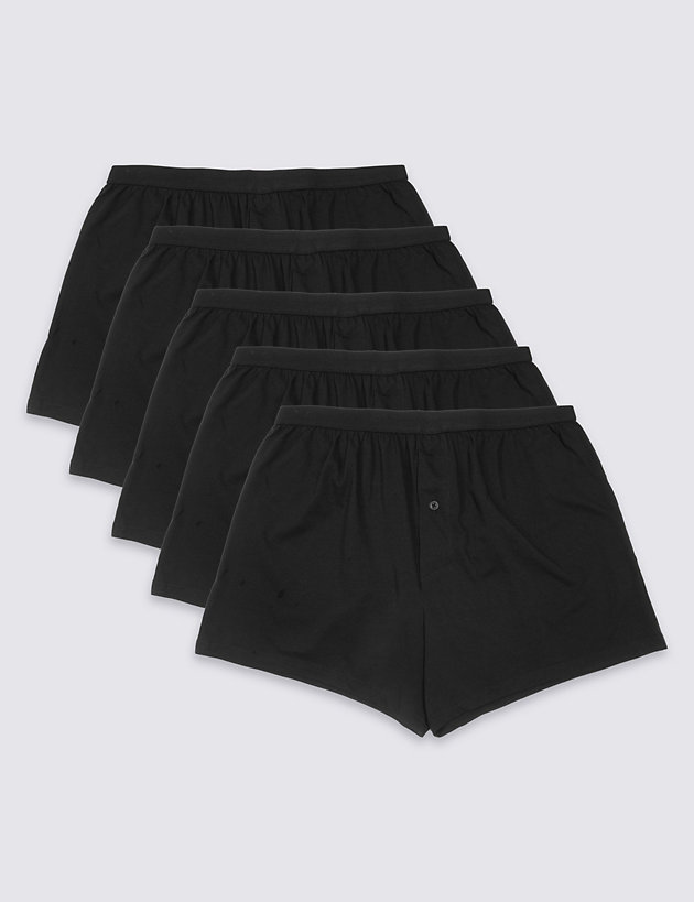 5 Pack Cotton Cool & Fresh Jersey Boxers