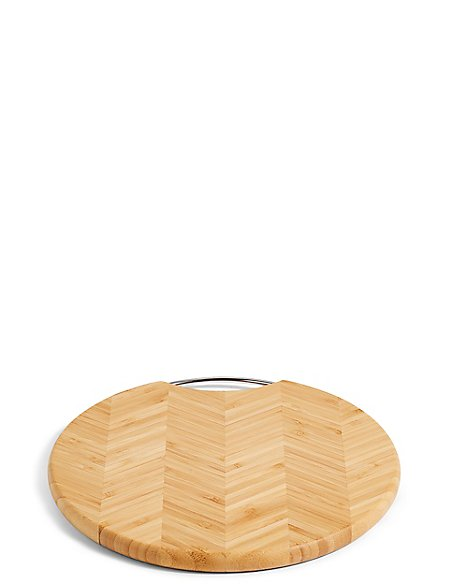 Hexagonal Bamboo Round Small Chopping Board