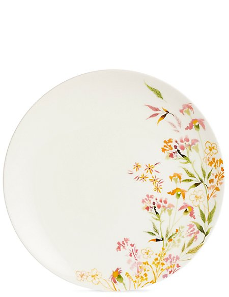 Painterly Floral Dinner Plate