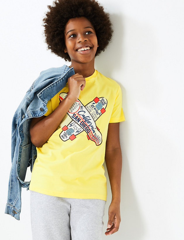 Pure Cotton Skater T-Shirt (6-16 Years)