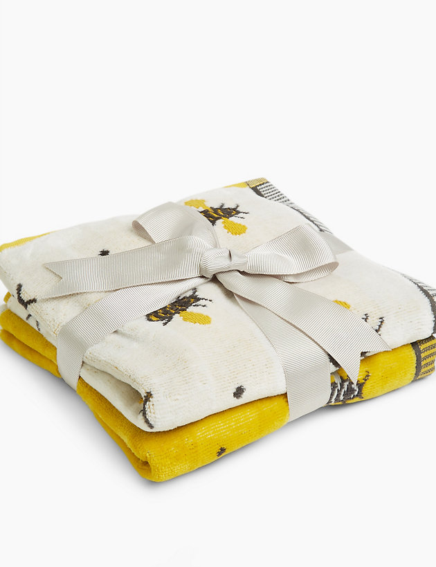 Cotton Bee Pattern Towel Gift Pack