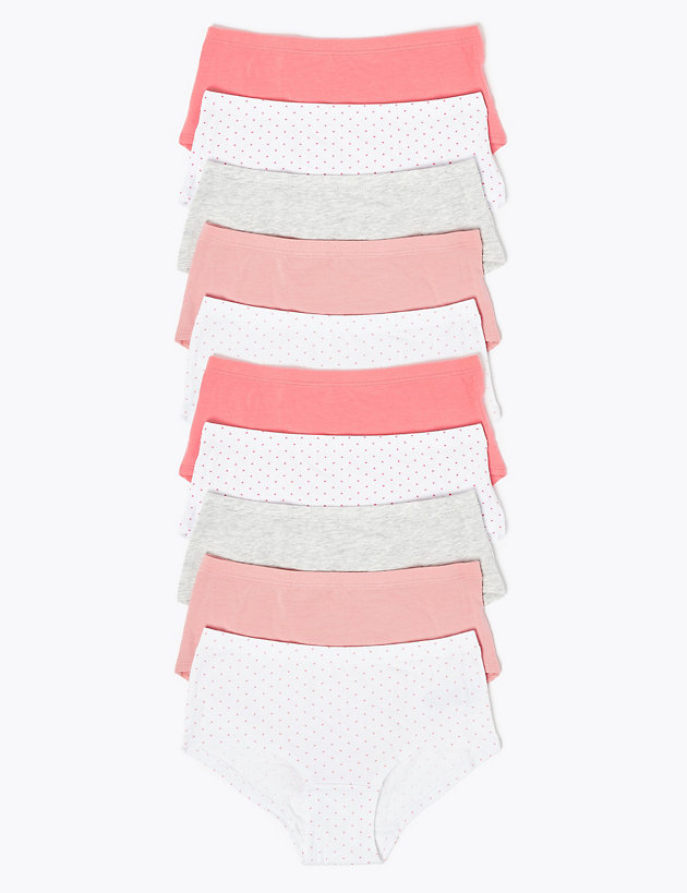 10 Pack Spotted Shorts (2-16 Yrs)