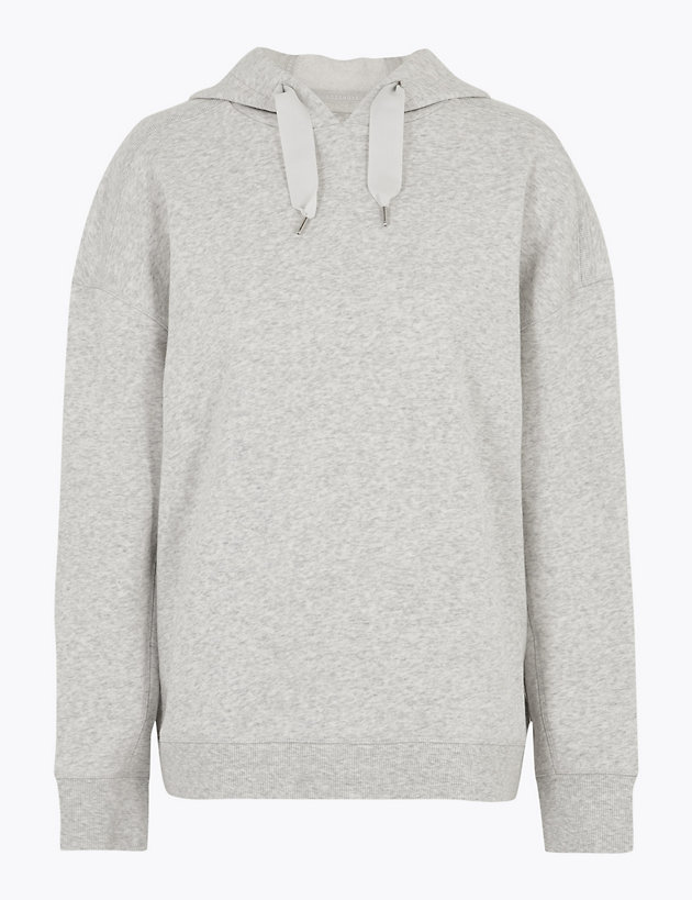 Cotton Relaxed Boxy Hoodie