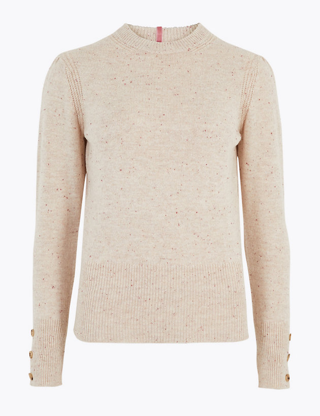 Cotton Button Detail Jumper