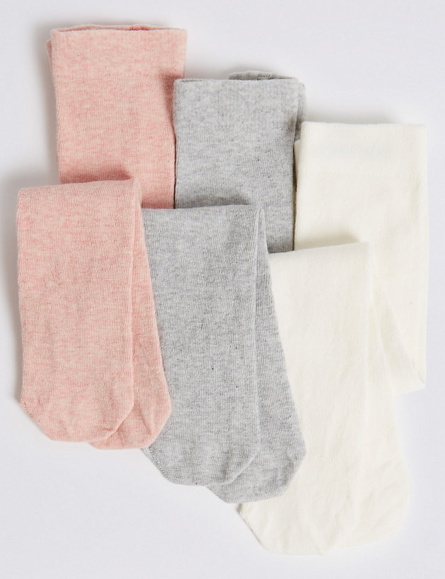 3 Pack of Filet Tights (0 Month - 3 Years)