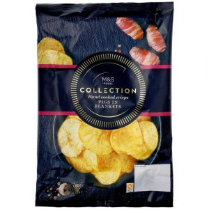 Pigs in Blankets Hand Cooked Crisps 150g