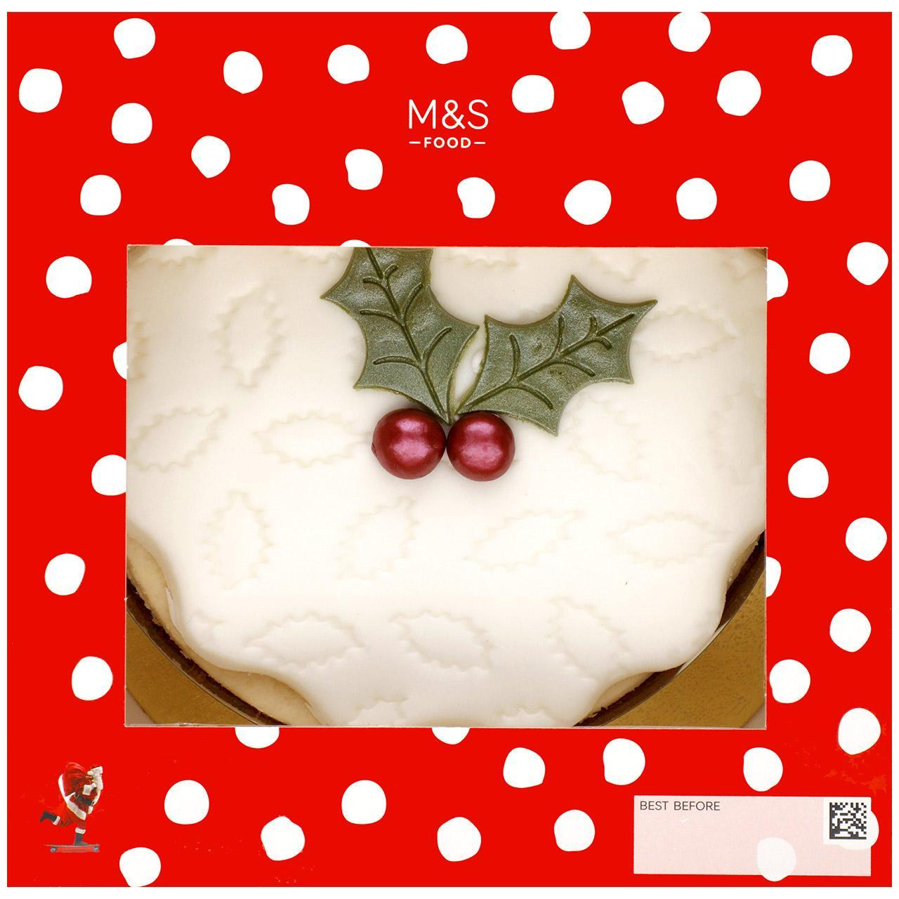 Top Iced Christmas Cake 835g