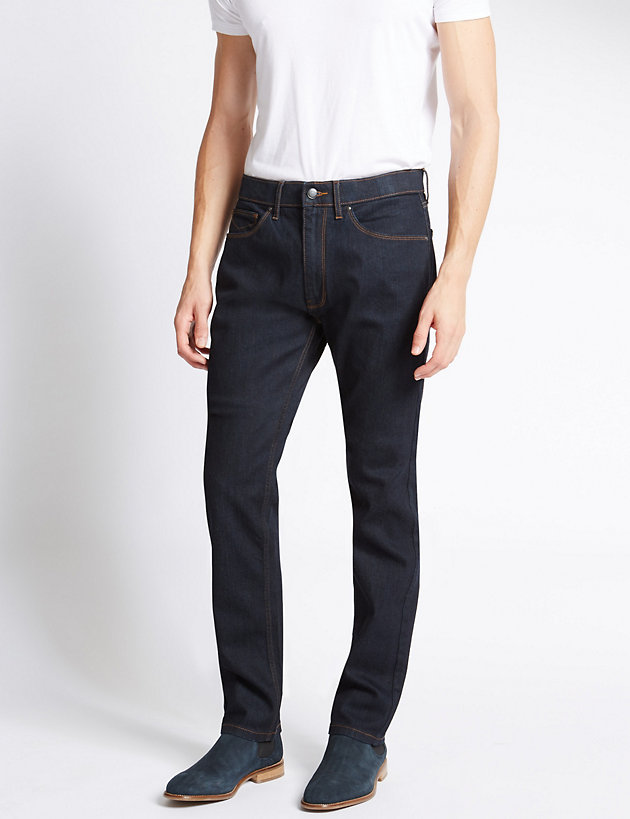 Tapered Fit Stretch Jeans with Stormwear