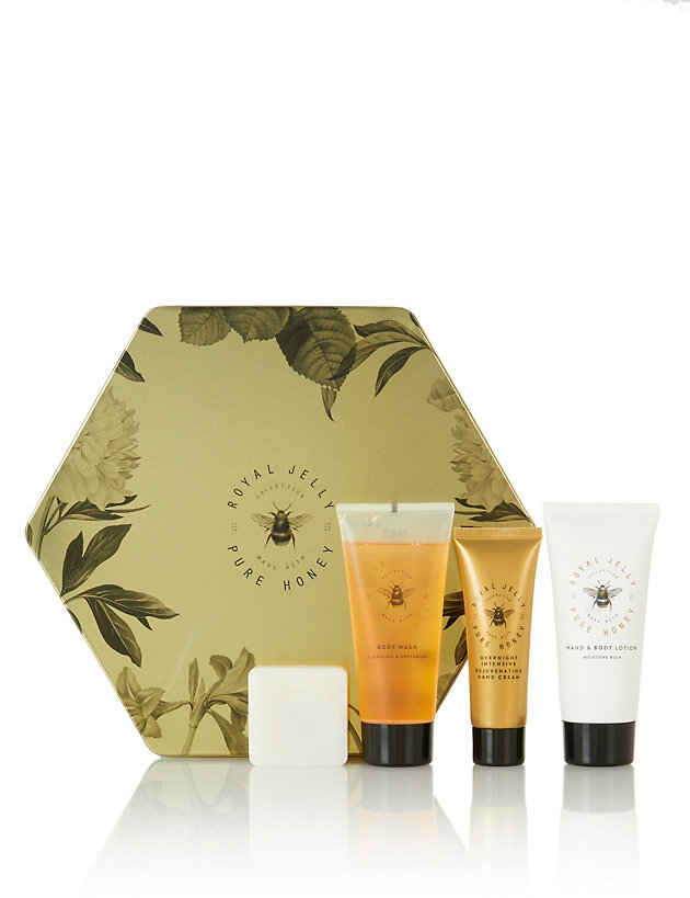 Hexagonal Tin Nourishing Beauty Set
