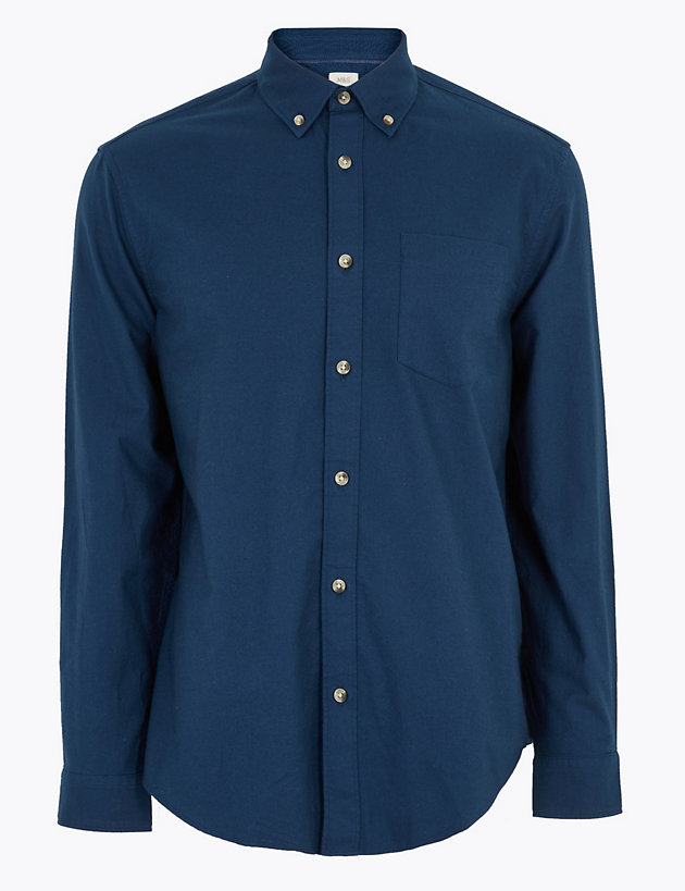 Easy Iron Pure Cotton Oxford Shirt