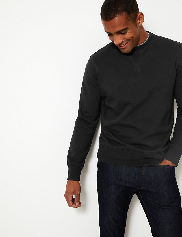 Cotton Crew Neck Sweatshirt