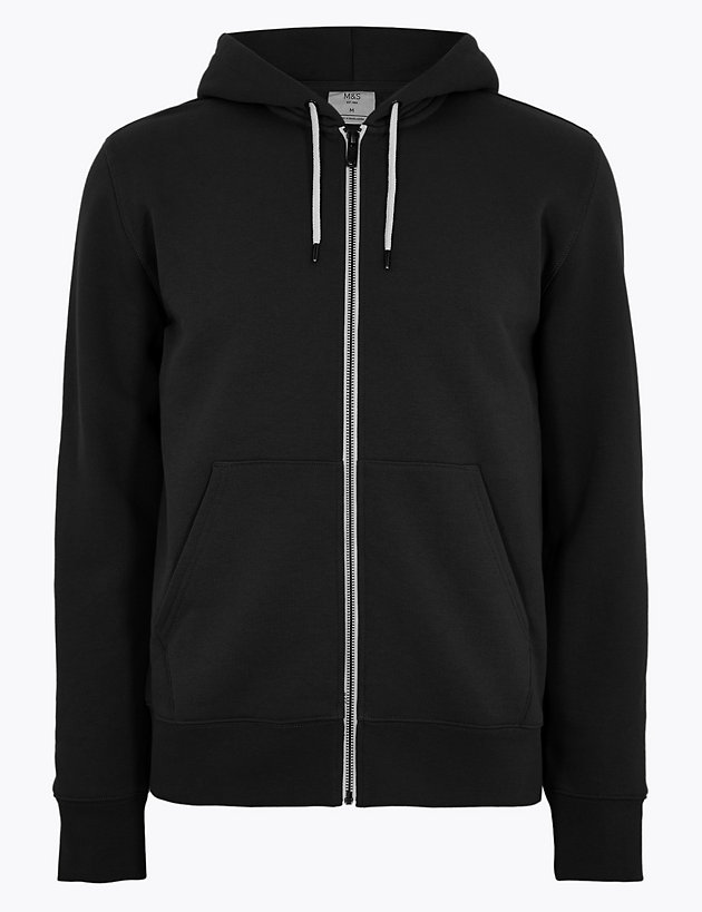 Cotton Zip Up Hoodie