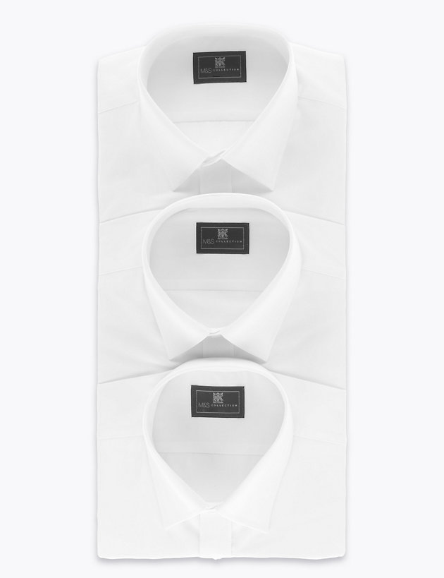3 Pack Tailored Fit Long Sleeve Shirts