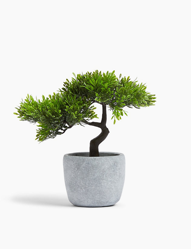 Artificial Bonsai Tree in Concrete Pot