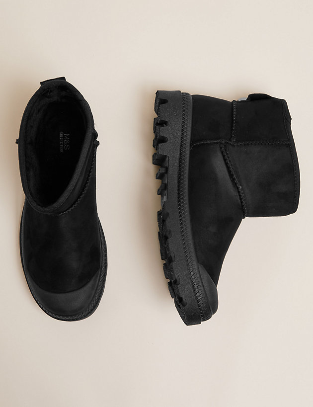 Toe Cap Pull On Ankle Boots