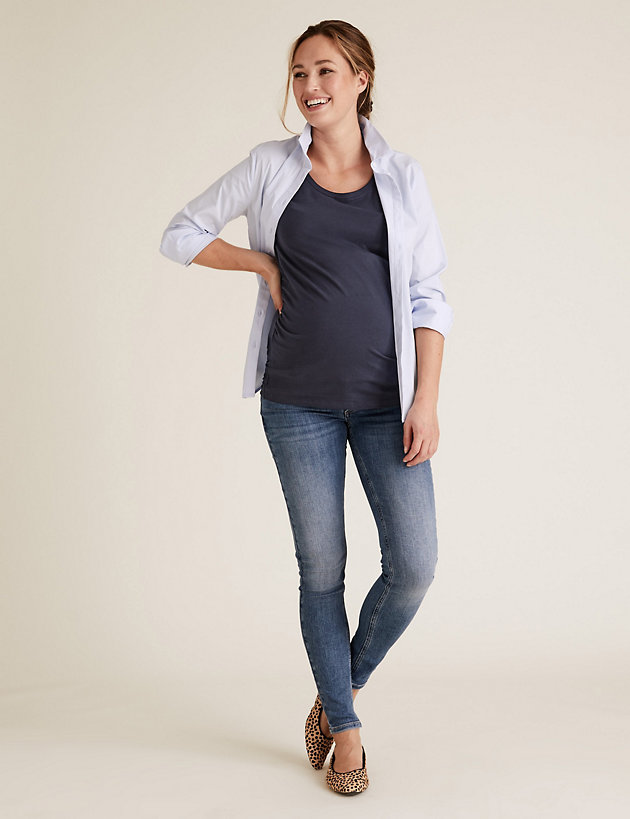 Maternity 2 Pack Cotton Fitted T-Shirts