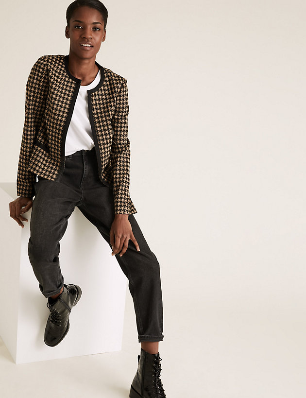 Jersey Slim Dogtooth Jacket