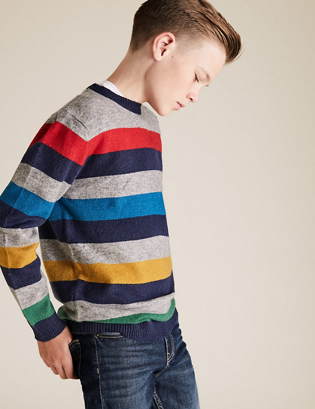 Striped Knitted Jumper (6-16 Yrs)
