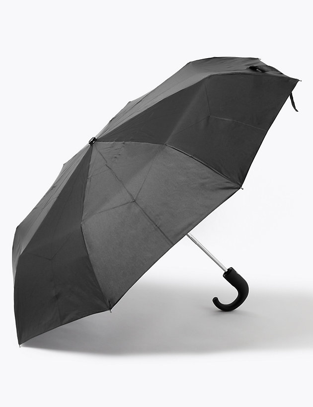 Recycled Polyester Crook Handle Umbrella with Windtech