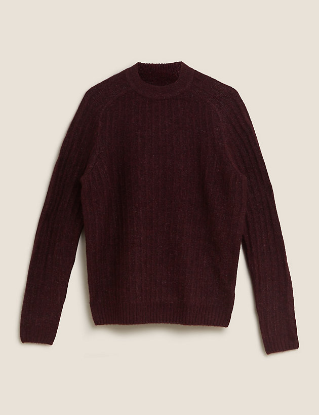 Cosy High Crew Jumper with Wool