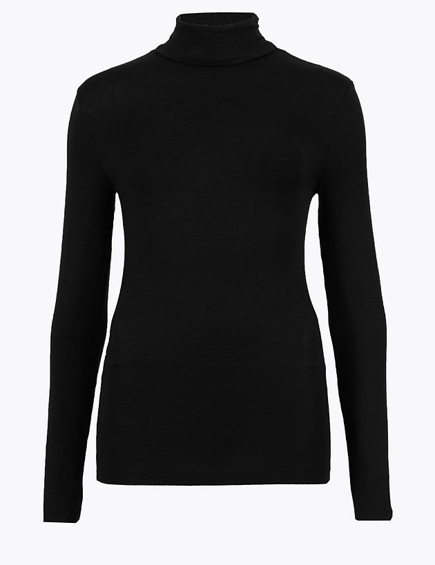 Heatgen  Thermal Polo Neck Long Sleeve Top