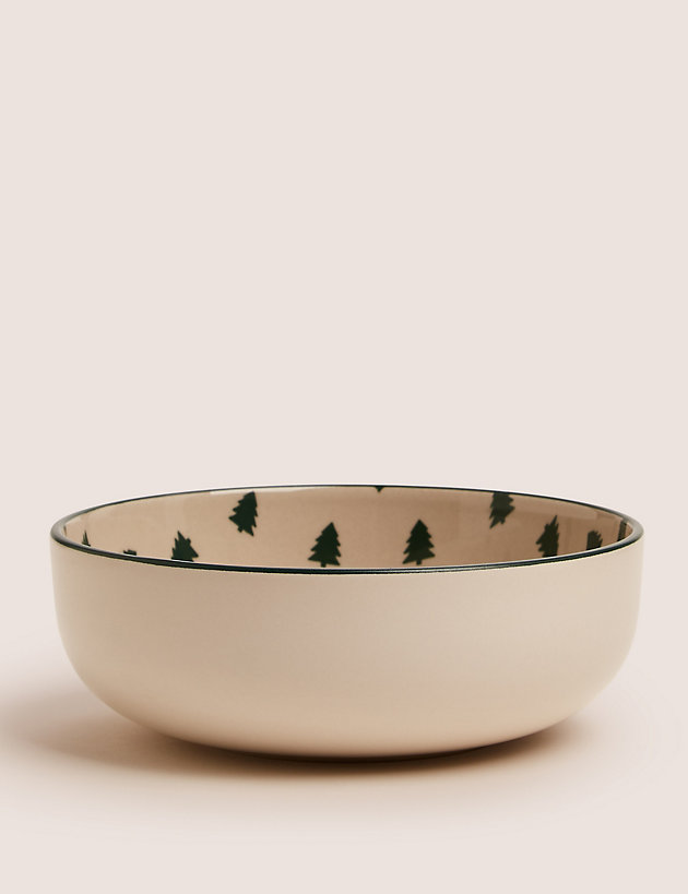 Tribeca Christmas Tree Print Cereal Bowl