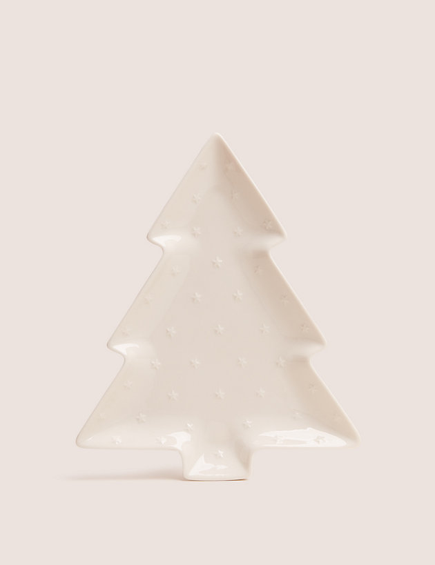 Small Ceramic Christmas Tree Platter