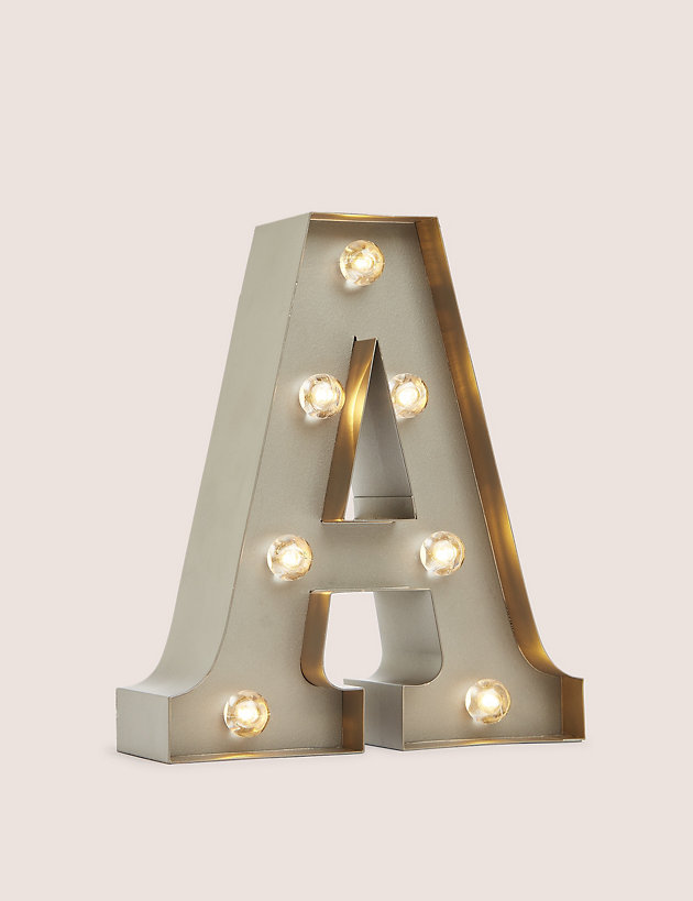 Metal Light Up Letter