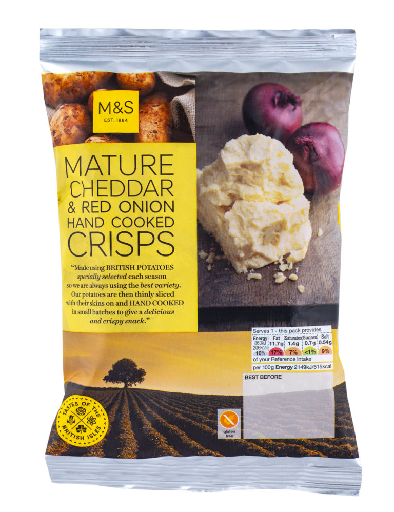 Mature Cheddar & Red Onion Hand Cooked Crisps