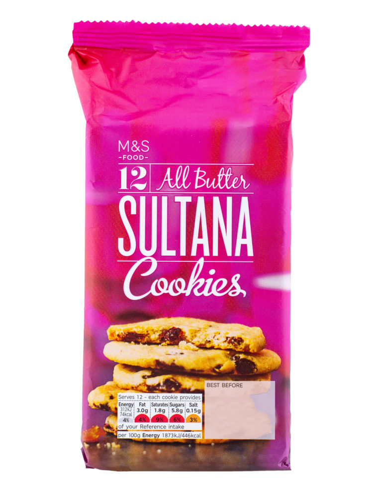 12 All Butter Sultana Cookies-200G