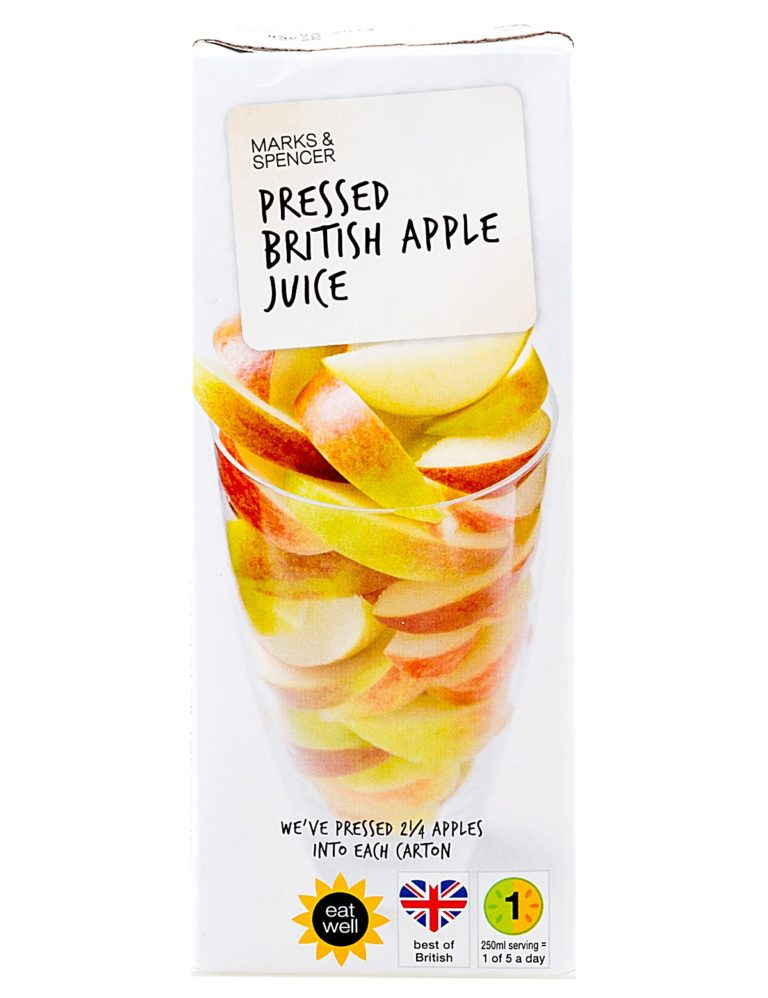 Pressed British Apple Juice Never From Concentrate