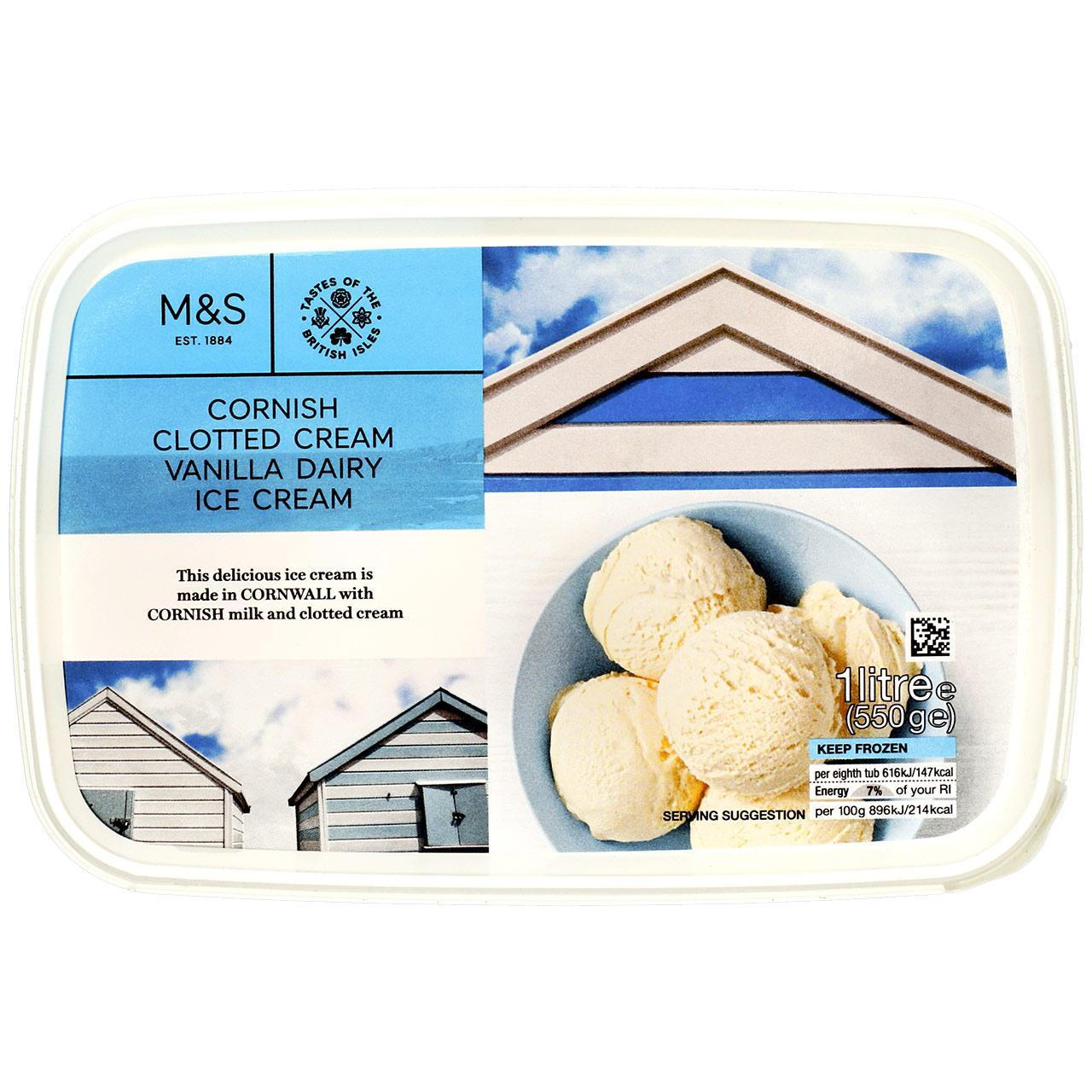 Clotted Cream Vanilla Ice Cream 1L