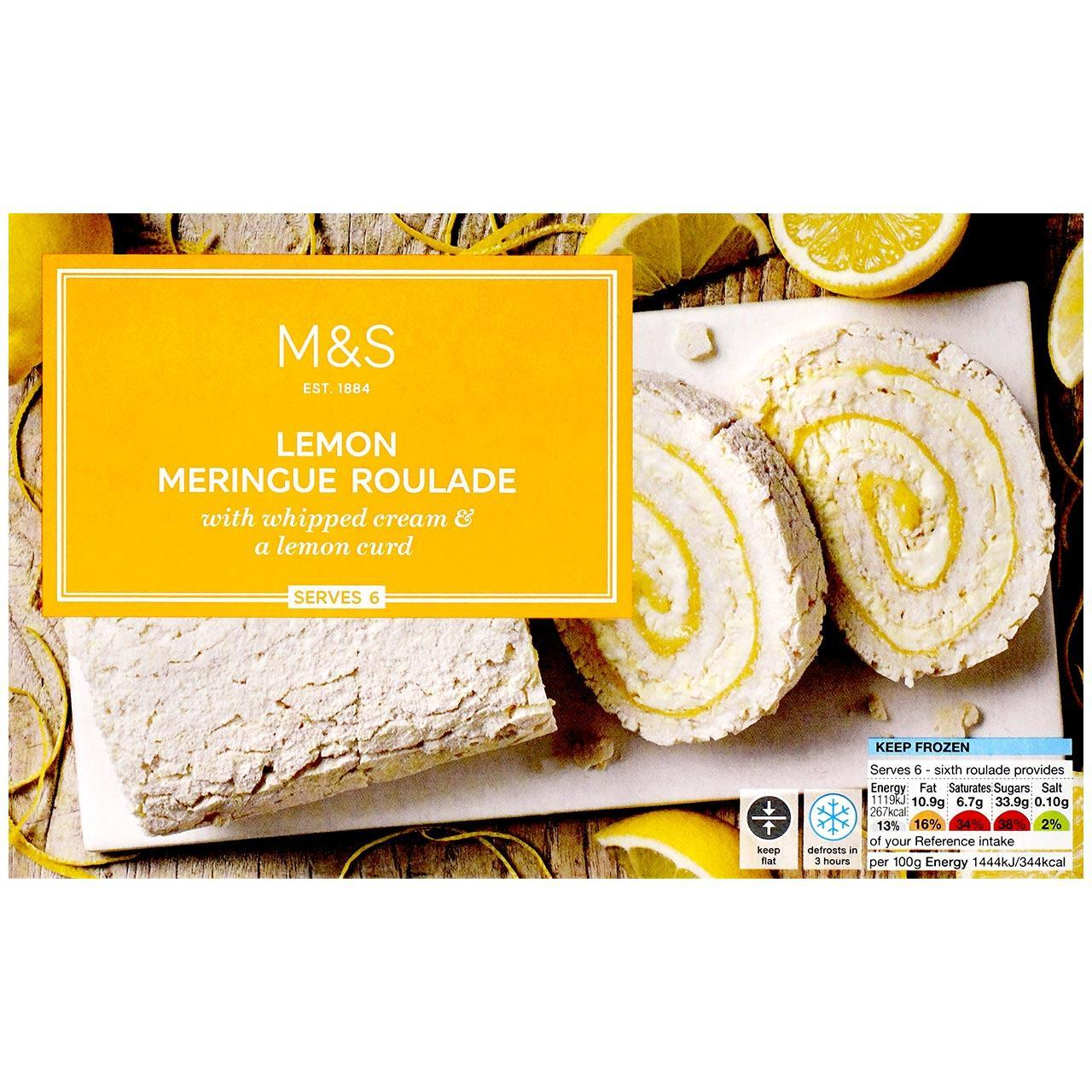 Lemon Meringue Roulade Frozen 465g