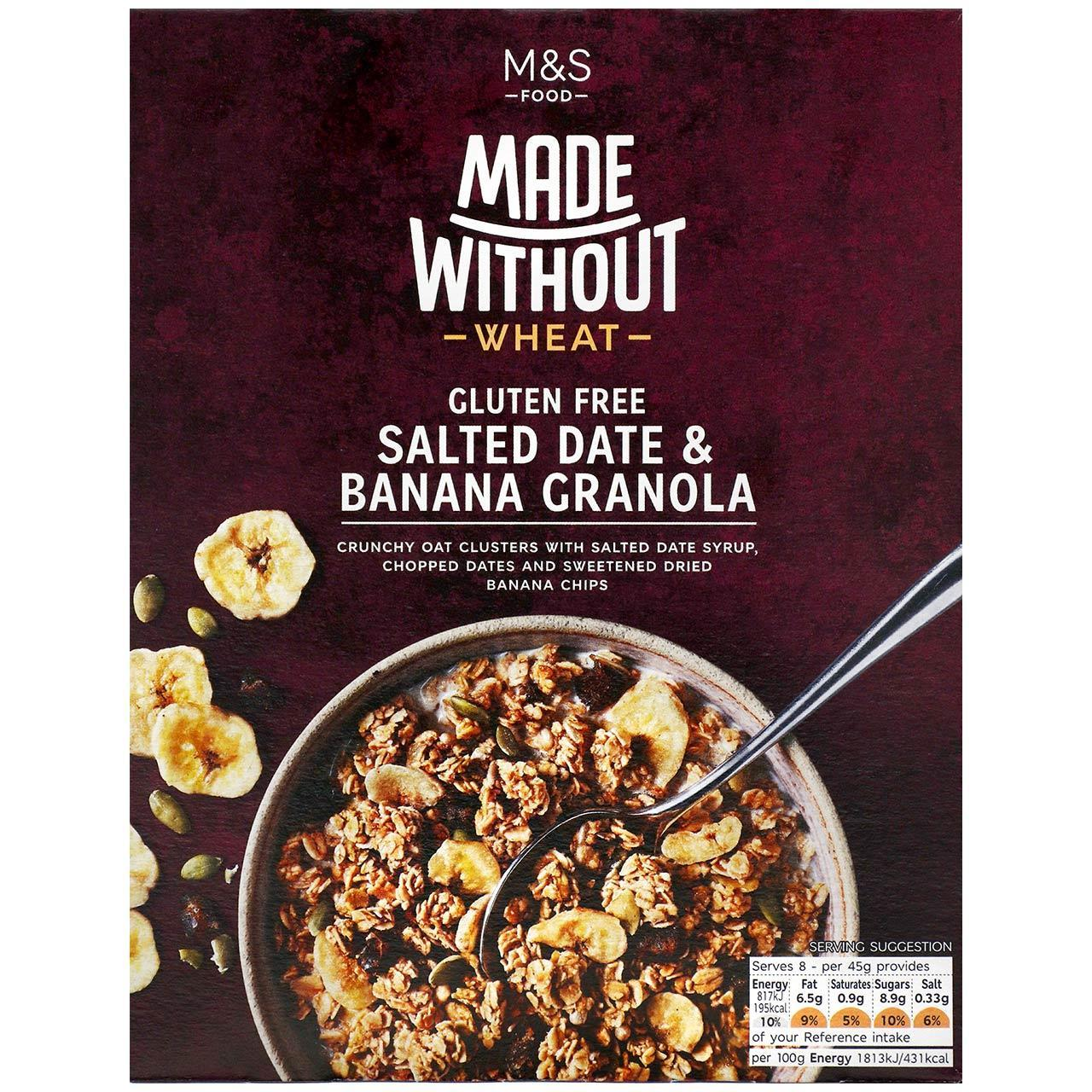 Made Without Salted Date & Banana Granola 360g
